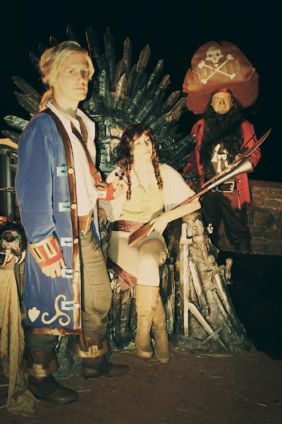 Monkey Island Characters: Guybrush Treepwood, Elaine and LeChuck @ Unicorn Festival 2012 / Festa dell'Unicorno / Vinci