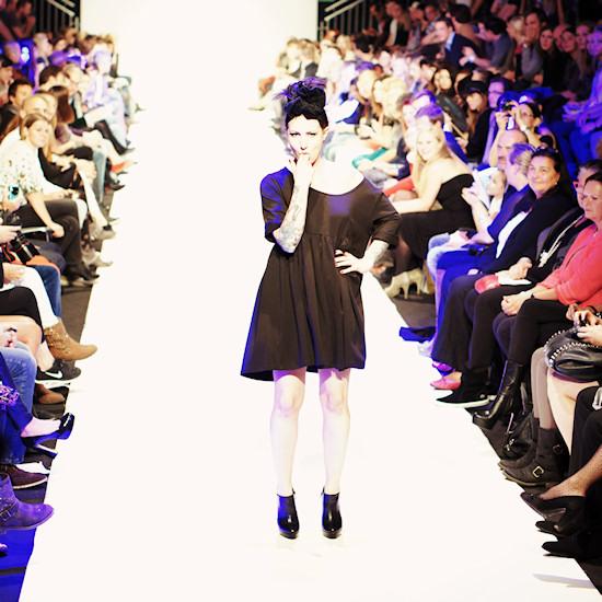 Kitty Willenbruch, burlesque model @ Urban Fashion Night by Mario Soldo. Vienna Fashion Week 2013.