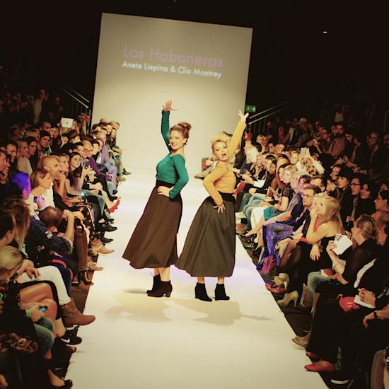 Anete Liepina & Clio Montrey performing Las Habaneras @ Urban Fashion Night by Mario Soldo. Vienna Fashion Week 2013.