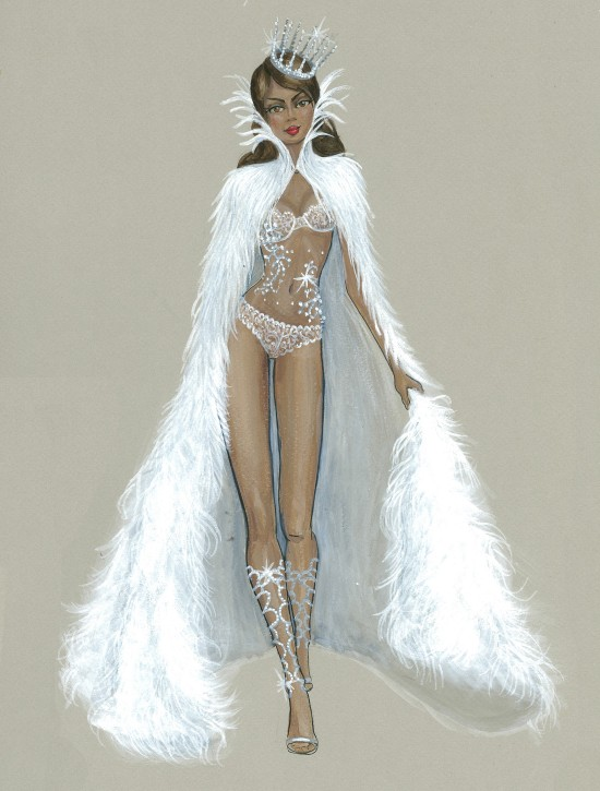 Fashion Illustration Snow Angels @ Victoria's Secret Fashion Show 2013