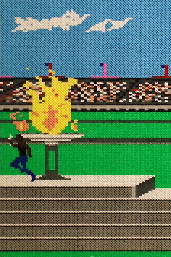 """""""Summer Games"""" by Veri Hanak Hammerl @ We Love 8-Bit exhibition Vienna"""