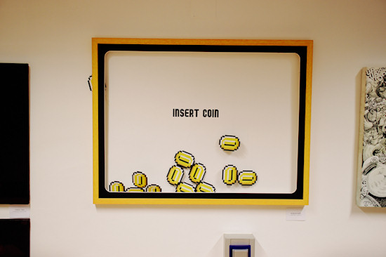 """Insert Coin"" by Robinizer @ We Love 8-Bit exhibition Vienna"