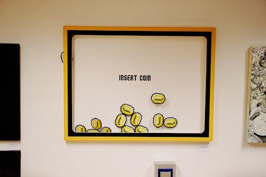 """""""Insert Coin"""" by Robinizer @ We Love 8-Bit exhibition Vienna"""