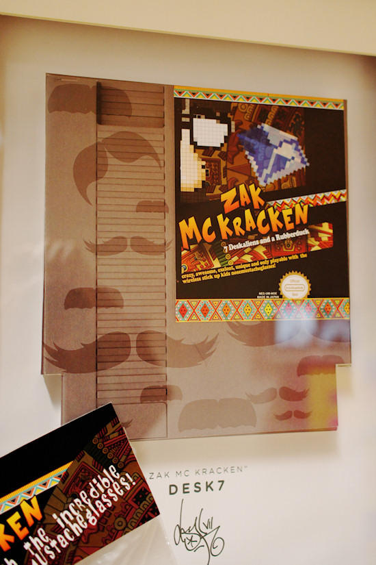 """Zack McKracken"" by Desk7 @ We Love 8-Bit exhibition Vienna"