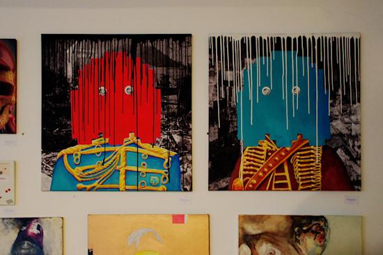 """""""Ghost 1 & 2"""" by Rocket & Wink @ We Love 8-Bit exhibition Vienna"""