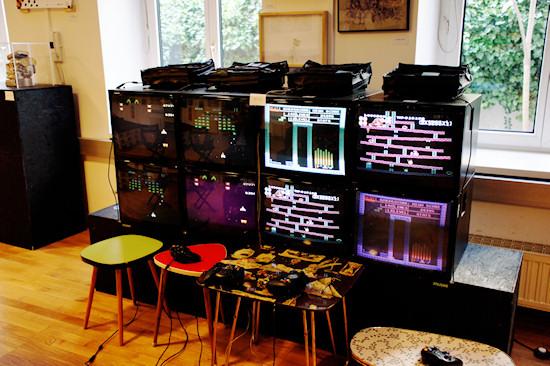 """""""SpieleEcke"""" (Game Corner, Arcade Station) by Abraham Ananda @ We Love 8-Bit exhibition Vienna"""