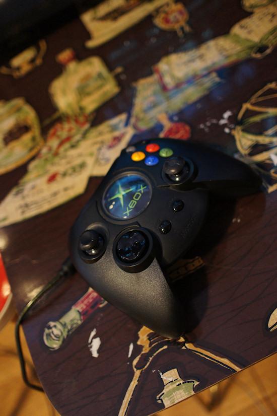 The original Xbox controller @ We Love 8-Bit exhibition Vienna
