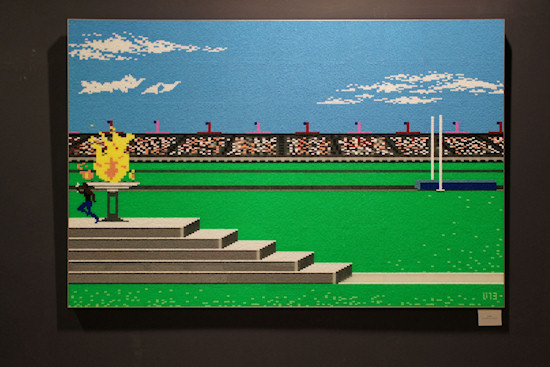 """8BIT"" by DAIM. 256 different colors on 256 wooden cubes @ We Love 8-Bit exhibition Vienna"