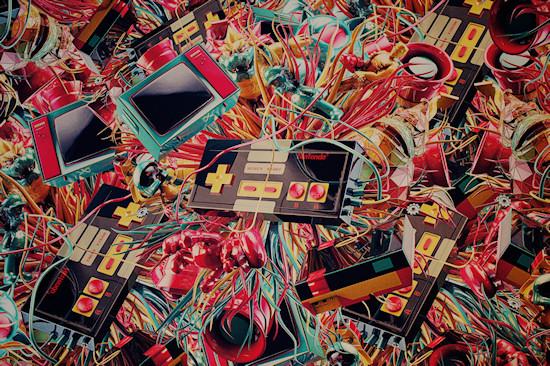 """The NES Effect"" by Antoni Tudisco @ We Love 8-Bit exhibition Vienna"