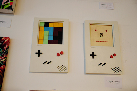 """The Console"" (Game Boy) by Joseph Rudolf @ We Love 8-Bit exhibition Vienna"