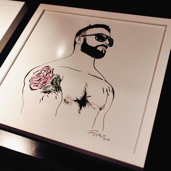 Male Artwork by Roland Zimmermann @ XXX Man Exhibtion   Tiberius