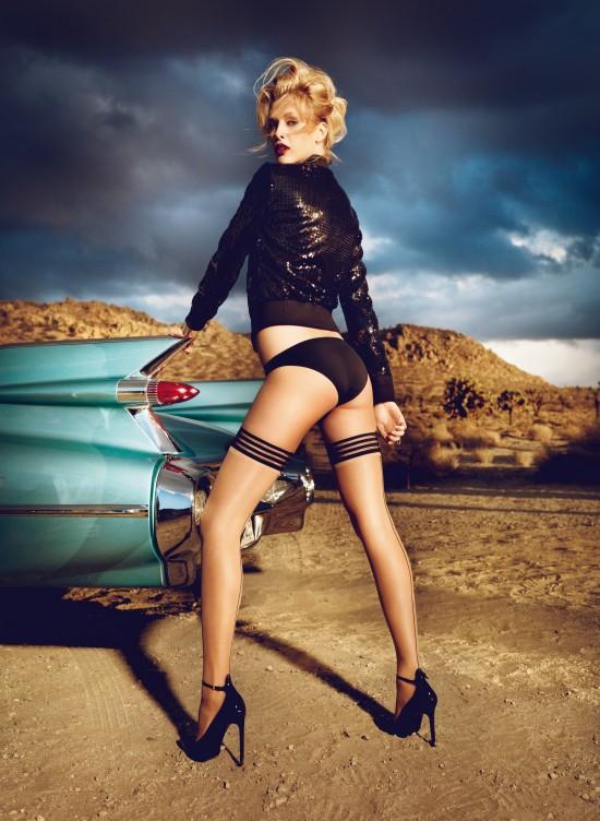 100 Years Lingerie by Palmers. Underwear Model Nadine Wolfbeisser. Photographer Mario Schmolka.