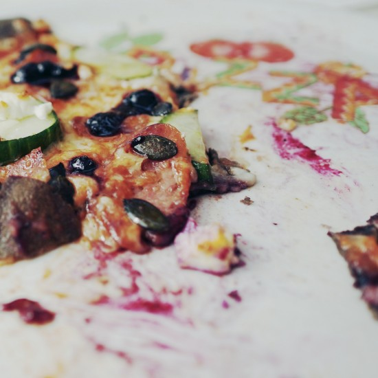 Conchita Wurst pizza with pink pepper