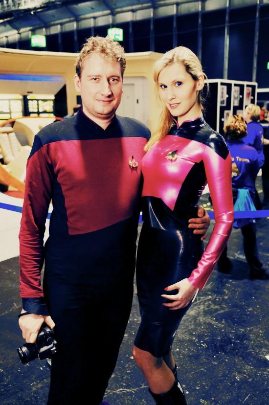 Trekkie Girl in Star Trek Latex uniform @ Destination Star Trek Germany Convention 2014 Frankfurt