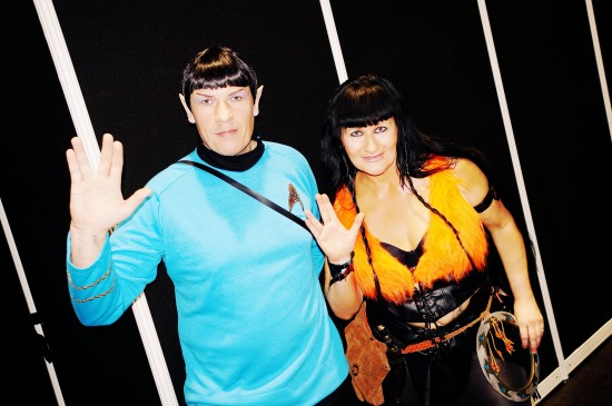 Xena and Spock @ Destination Star Trek Germany Convention 2014 Frankfurt
