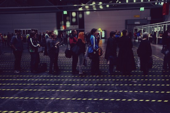 Waiting queue @ Destination Star Trek Germany Convention 2014 Frankfurt
