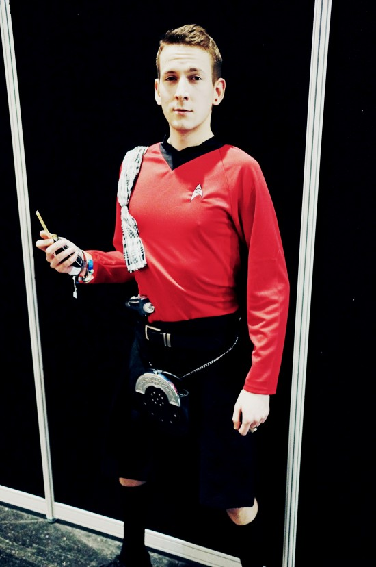 Trekkie in kilt @ Destination Star Trek Germany Convention 2014 Frankfurt