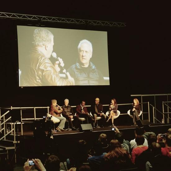 Star Trek The Next Generation reunion hosted by William Shatner with Brent Spiner (Data), LeVar Burton (Geordi La Forge), Michael Dorn (Worf), Marina Sirtis (Deanna Troi) and Gates McFadden (Beverly Crusher) @ Destination Star Trek Germany 2014