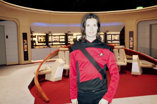Lt. Commander Viki on the TNG bridge @ Destination Star Trek Germany 2014