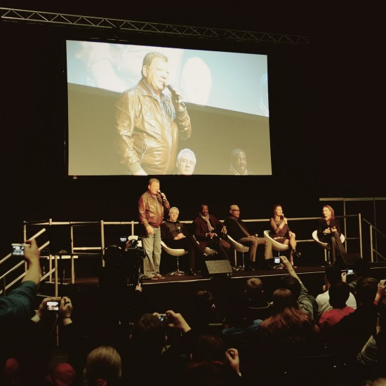 William Shatner opening the TNG reunion session @ Destination Star Trek Germany 2014