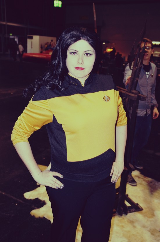 Star Trek yellow uniform @ Destination Star Trek Germany 2014