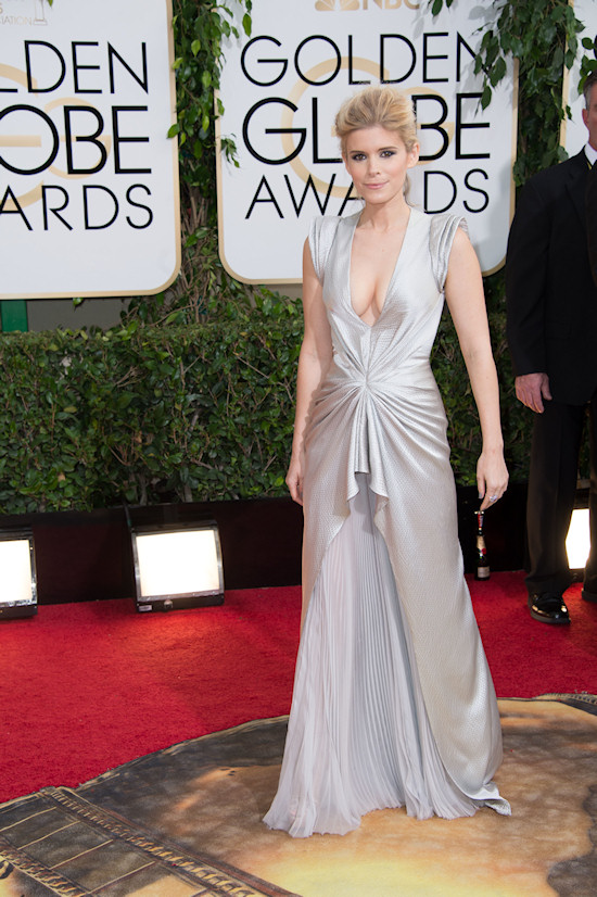 Kate Mara wearing a gown by J Mendel @ Golden Globes 2014