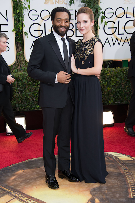 Chiwetel Ejiofor (12 Years a Slave) and Sari Mercer @ Golden Globes 2014