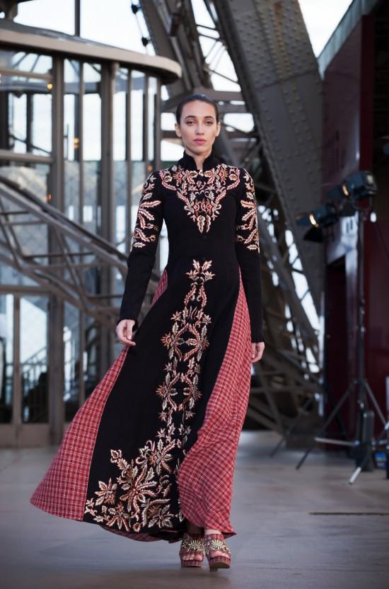 Shilpa Reddy Fashion Show on the Eiffel Tower.