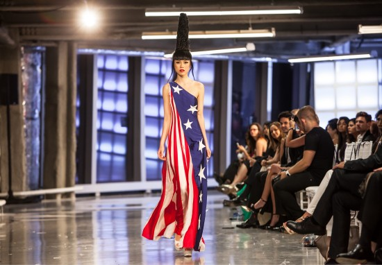 Jessica Minh Anh in Chula American signature dress @ One World Trade Center Fashion Show