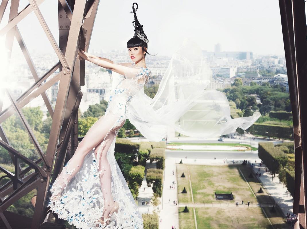 Haute Couture On The Eiffel Tower Viki Secrets