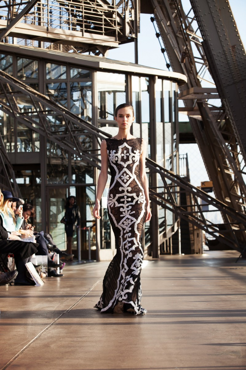 haute couture on the eiffel tower viki secrets