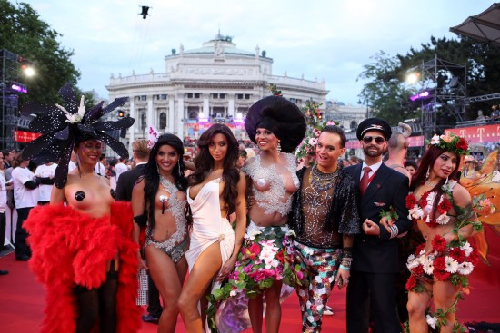 Conchita WYasmine Petty and Julian F.M. Stoeckel @ Life Ball 2014