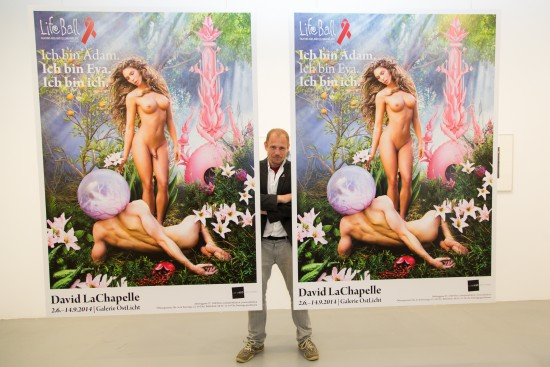 Naked Carmen Carrera Poster by David LaChapelle for Life Ball 2014