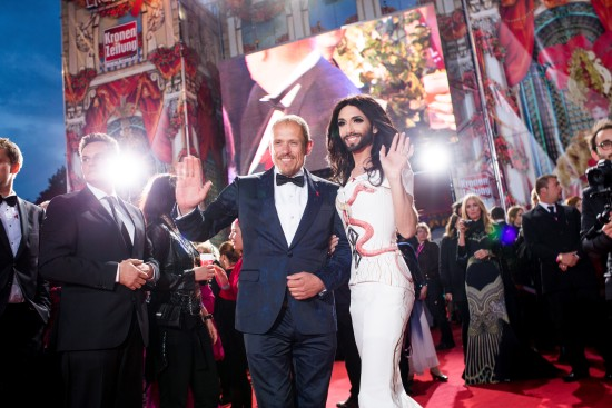 Conchita Wurst and Gery Keszler @ Life Ball 2014