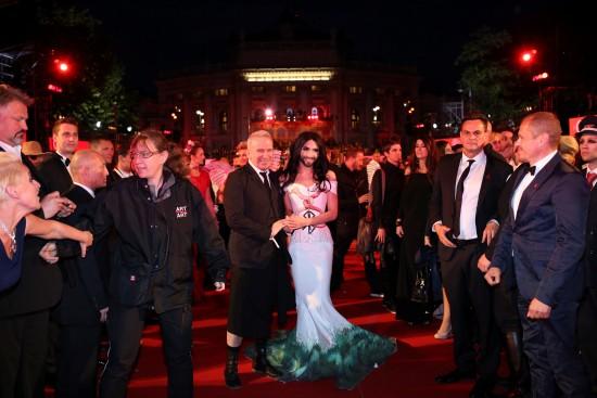 Jean Paul Gaultier with Conchita Wurst @ Life Ball 2014