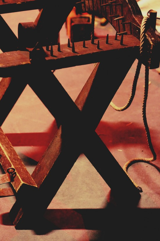 Torture chair. Medieval Torture Show. Die Henker @ Mittelalterspektakel 2014 St. Pölten