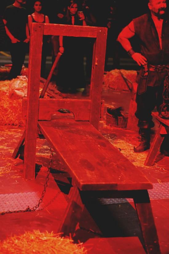 Torture rack. Medieval Torture Show. Die Henker @ Mittelalterspektakel 2014 St. Pölten