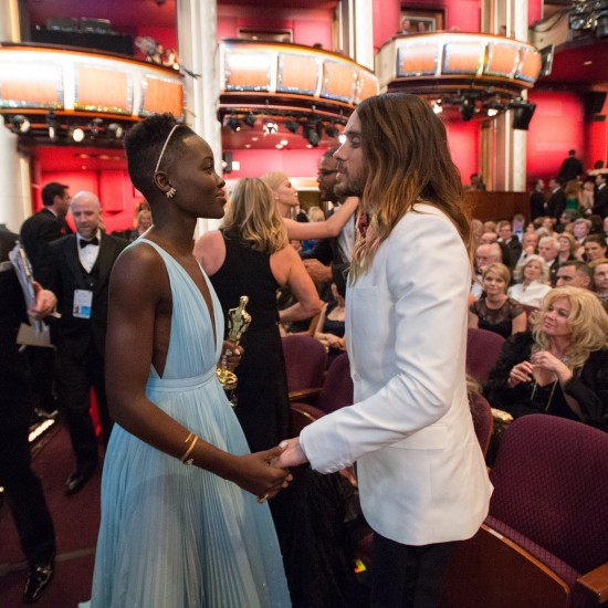 Lupita Nyong'o and Jared Leto @ Oscars 2014
