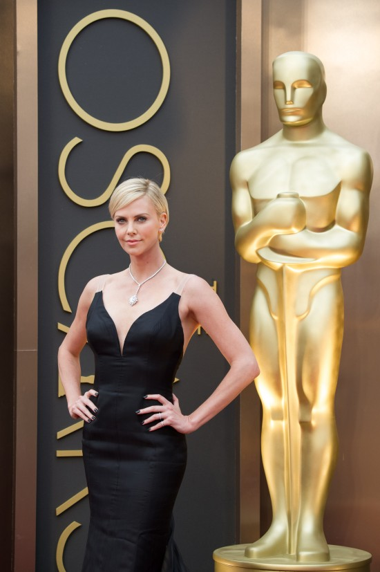 Charlize Theron in Dior @ Oscars 2014