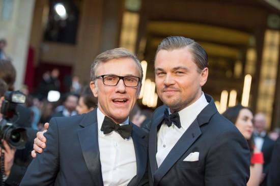 Christoph Waltz and Leonardo DiCaprio @ Oscars 2014