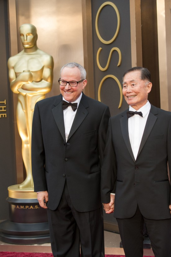 George Takei  and Brad Altman @ Oscars 2014