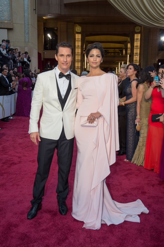 Matthew McConaughey and Camila Alves @ Oscars 2014