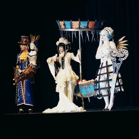 Claus Haine, Alice, and Caren from Scissors Crown Cosplay @ Comics Salon 2014