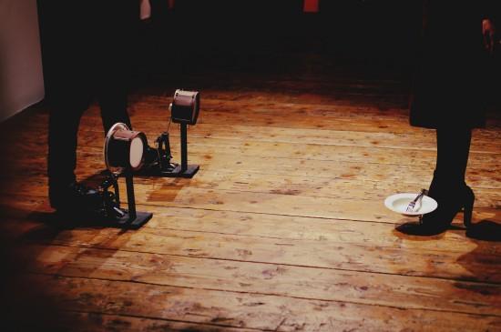 Drumming shoes @ Falling Footnotes / SHOEting Stars shoe exhibition Kunst Haus Wien