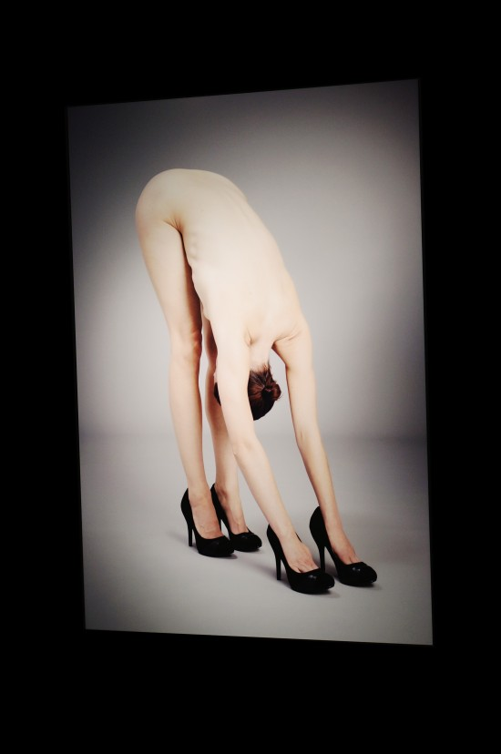 "Photo ""Yoga in Heels"" by Krista van der Niet @ SHOEting Stars shoe exhibition Kunst Haus Wien"