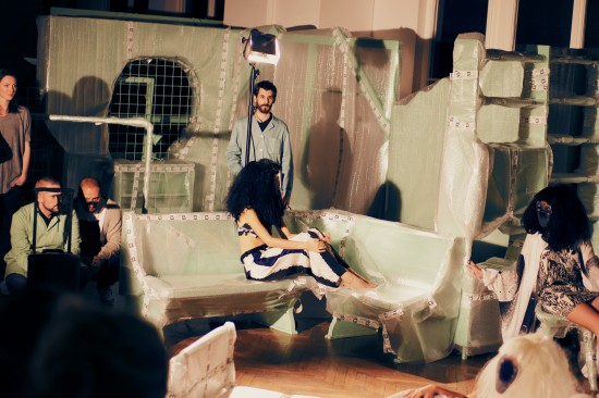 Fashion Model Asylum Tableau Vivant by GON Vienna @ Departure Fashion Night 13 Festival