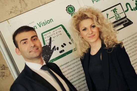 TUN-Award winners Tsvetanova and Slavi Slavev from Green Vision @ TEDxAmRing Change Worth Fighting For