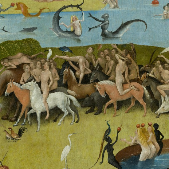 The Garden of Earthly Delights by Hieronymus Bosch: Horses and Nudes