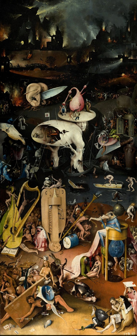 The Garden of Earthly Delights by Hieronymus Bosch: Hellscape and Divine Punishment, right panel