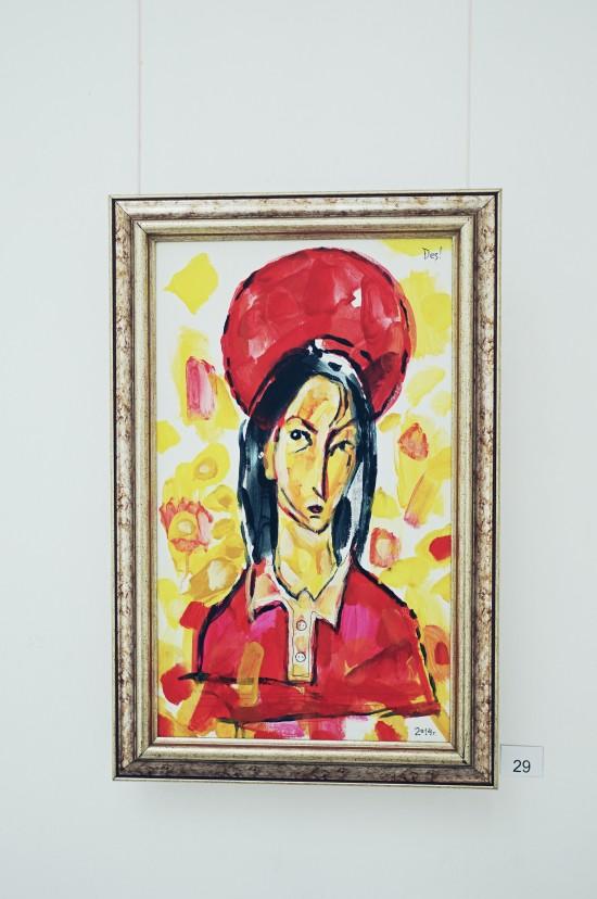"Painting Mariyano riding the broom ""Марияно яхнала метлата"" by Десо Замора"